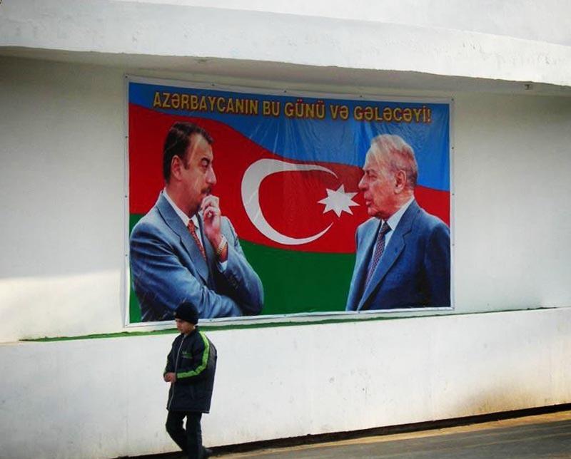 Азербайджан. Предвыборные плакаты.