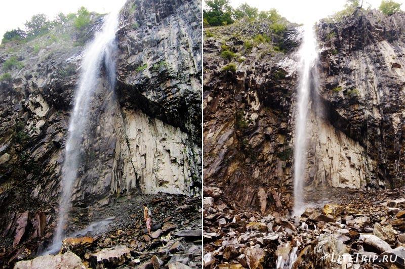 Азербайджан. Поток воды водопада Илису.