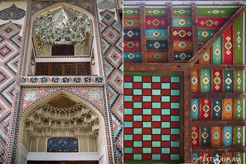 Азербайджан. Хан Сарай в городе Шеки - рисунок на здании.