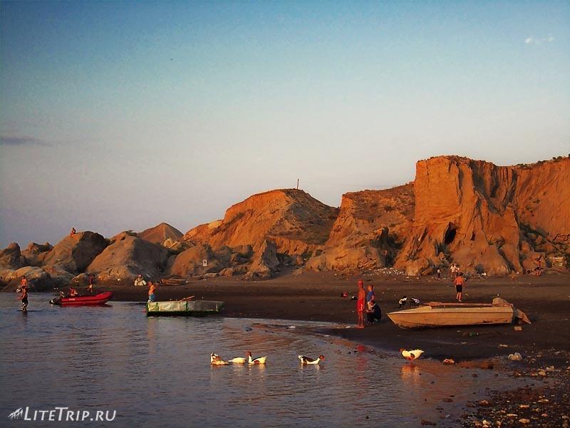 Азербайджан. Мингечаурское водохранилище. Пляж