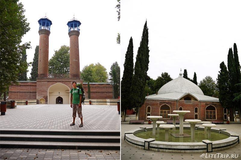 Азербайджан. Гянджа - минареты Джума мечети.