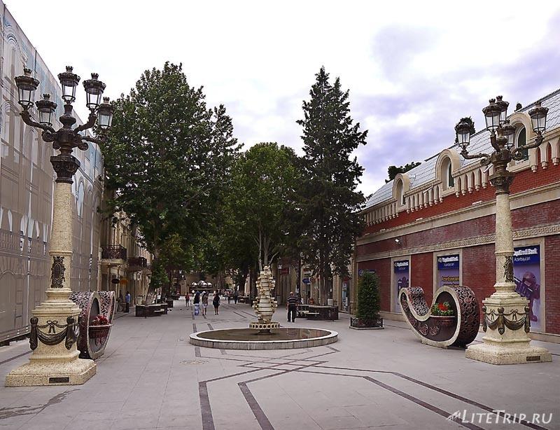 Азербайджан. Улицы города Гянджа.