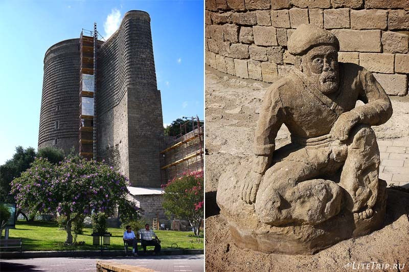Азербайджан. Девичья башня в старом городе Баку.