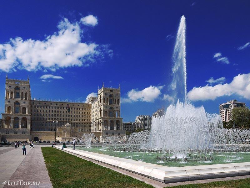 Азербайджан. Танцующий фонтан в Баку.