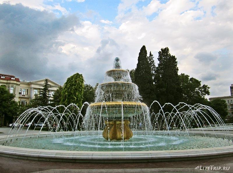 Азербайджан. Фонтаны Баку.