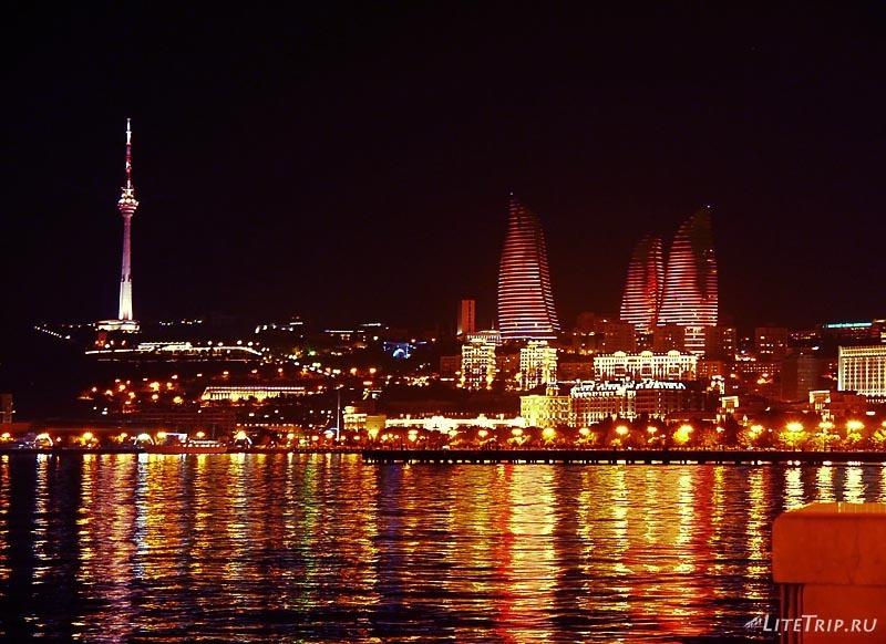 Азербайджан. Пламенные башни Баку.