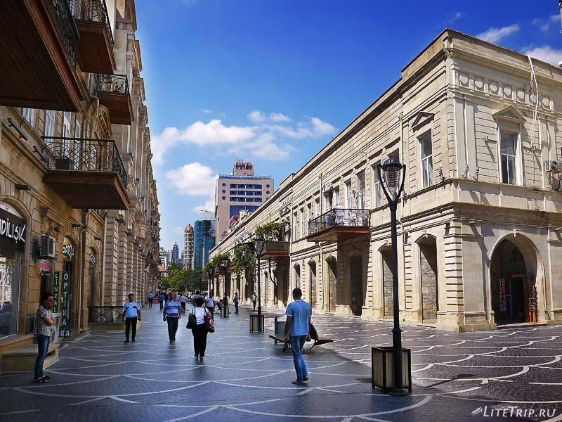 Азербайджан. Центральные улицы Баку.