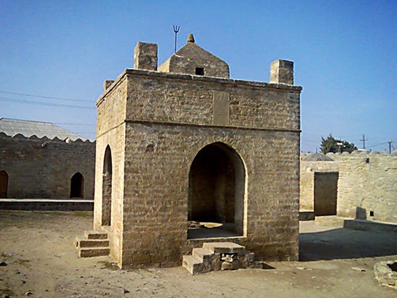 Азербайджан. Храм Атешгях - старое фото.