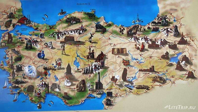 Турция. Карта.