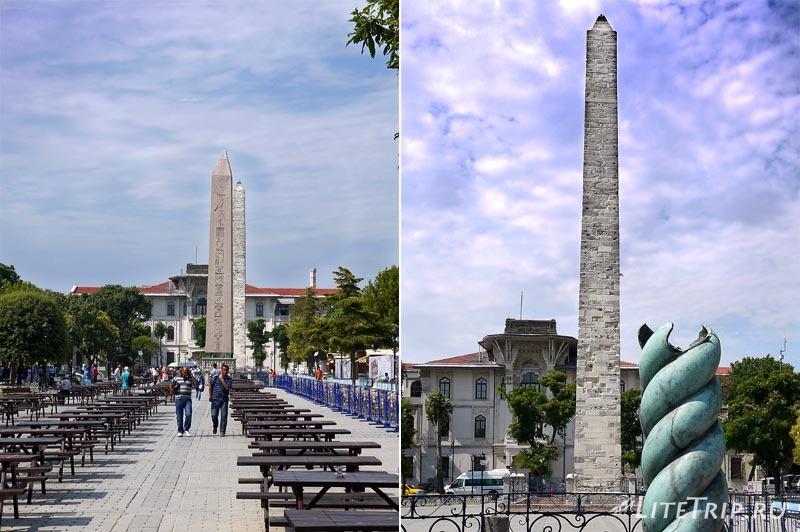 Турция. Ипподром в Стамбуле - обелиск Константина.