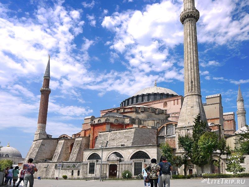 Турция. Собор Святой Софии в Стамбуле.