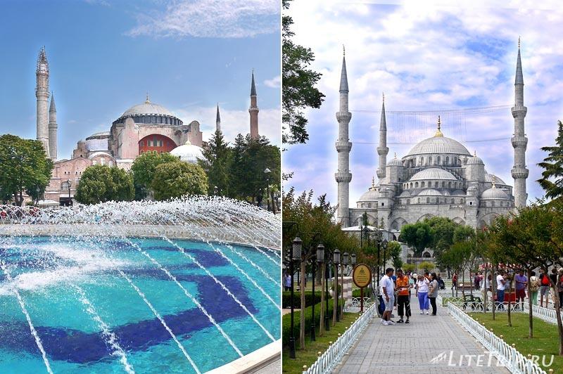 Турция. Две мечети в Стамбуле.