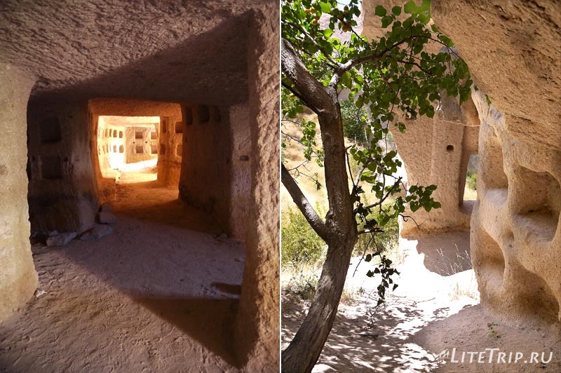Турция. Учхисар - пещеры в долине изнутри.