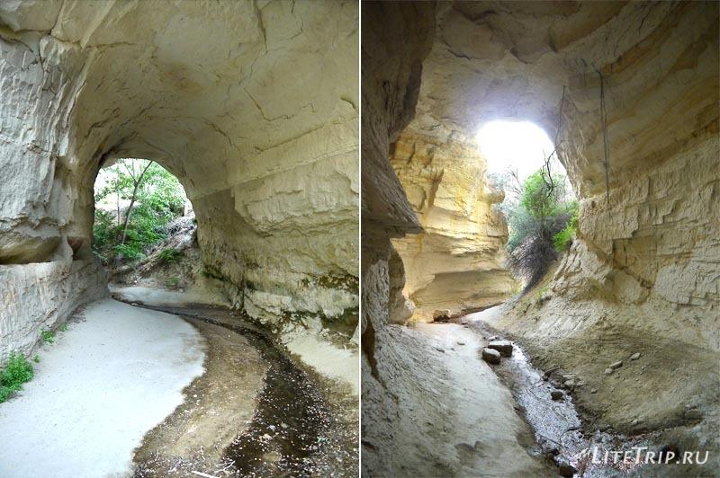 Турция. Каппадокия. 100-метровый тоннель в Розовой долине.