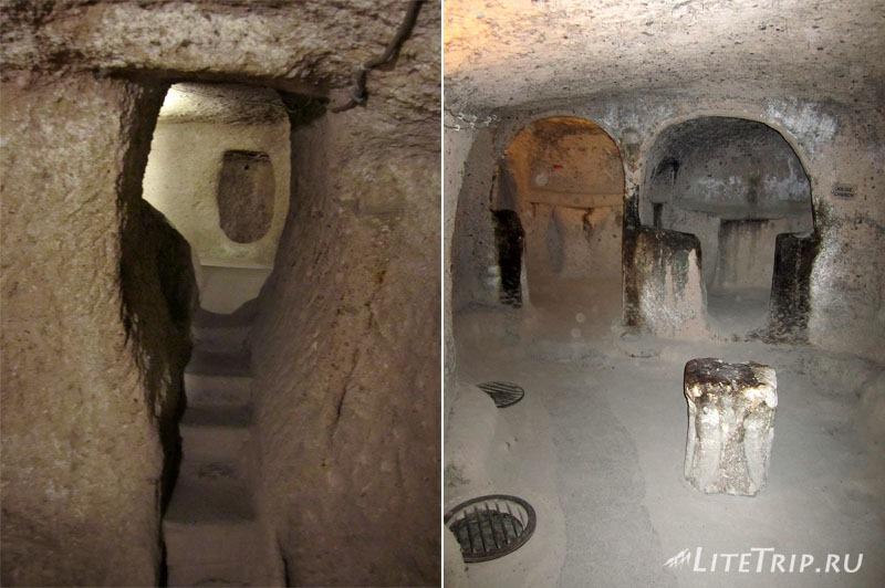 Турция. Подземный город Каймаклы - комнаты.