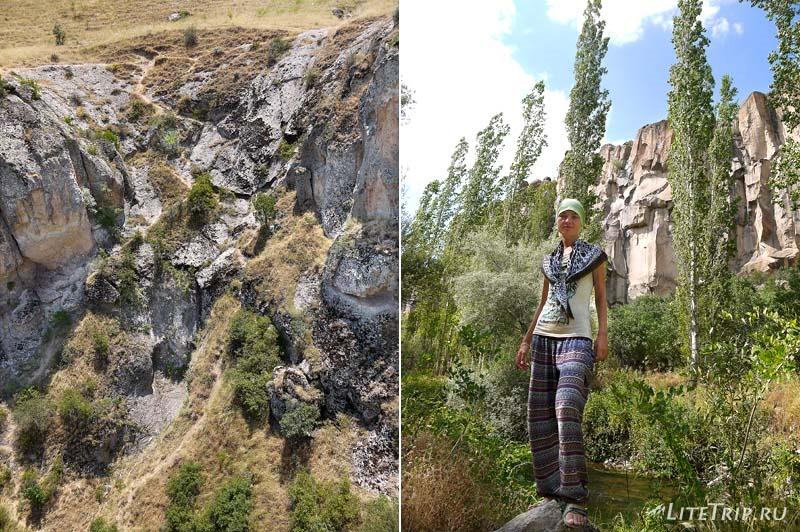 Турция. Опасный спуск в долину каньона Ихлара.