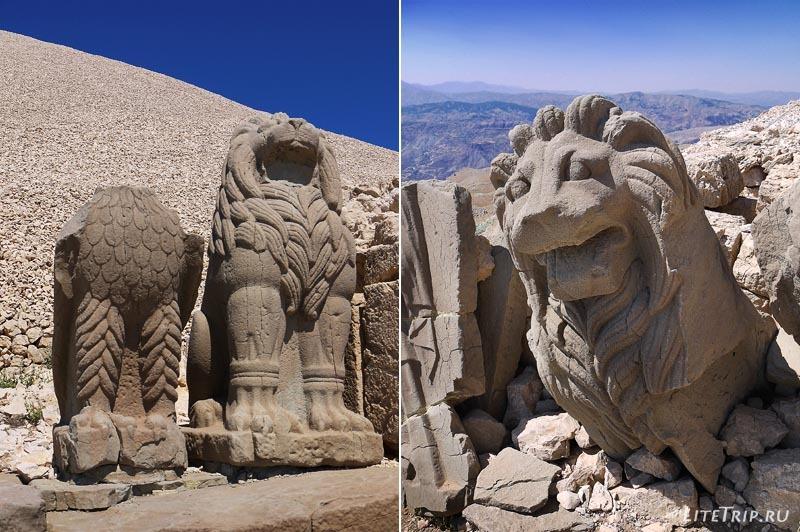 Турция. Немрут Даг - статуи орлов и львов.