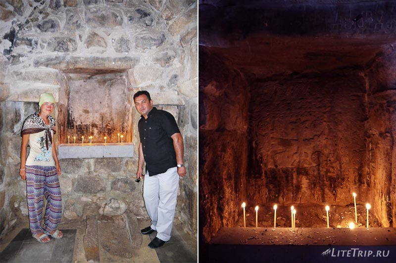 Турция. Армянская церковь на острове Ахтамар - свечи.