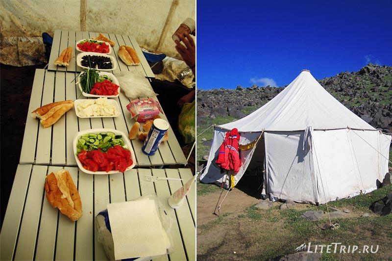 Турция. Лагерь на Арарате - обеденная палатка.