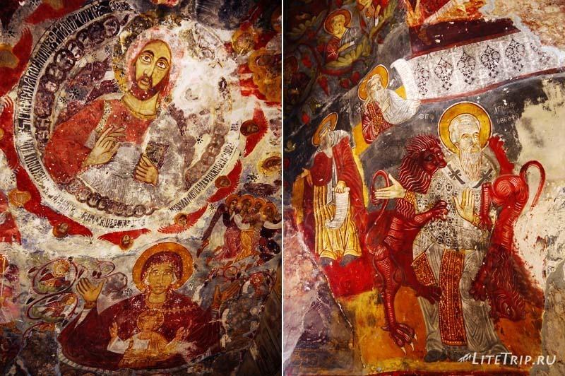 Турция. Фрески Сумела монастыря.