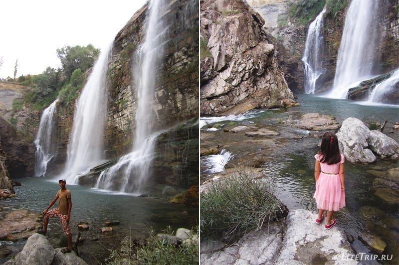 Турция. Люди у водопада Тортум Кайи.