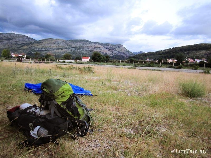 Босния и Герцеговина. Требинье - место для палатки.