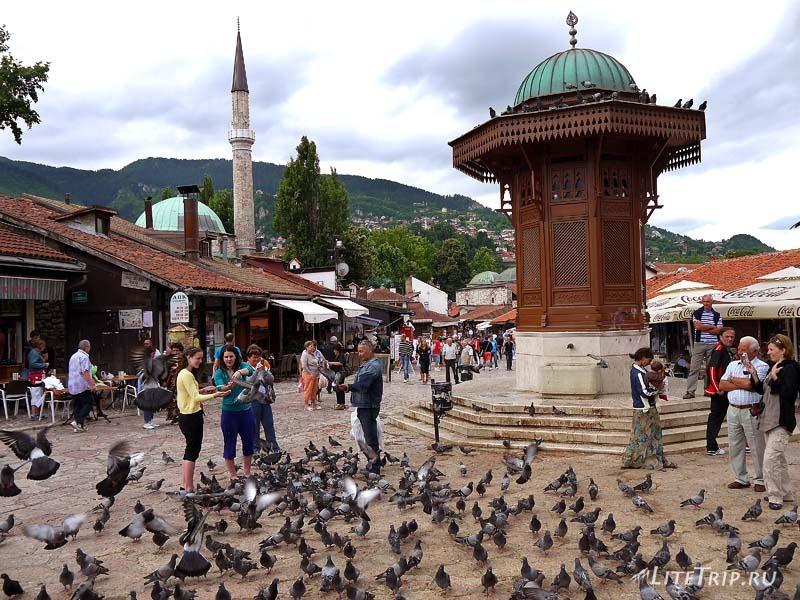 Босния и Герцеговина. Сараево - базар Башчарши.