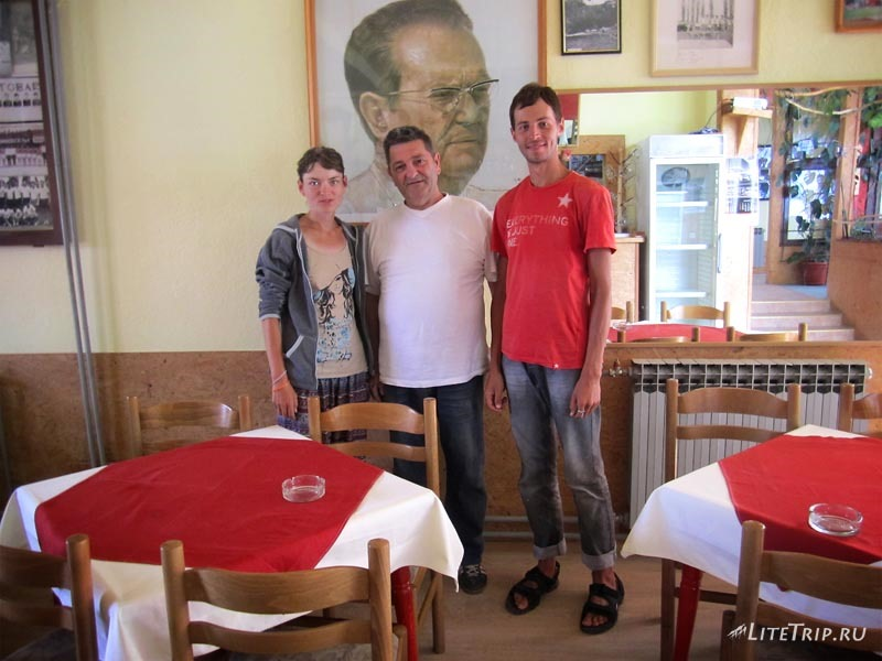 Босния и Герцеговина. Кафе Zuta Greda в Високо и его хозяин.