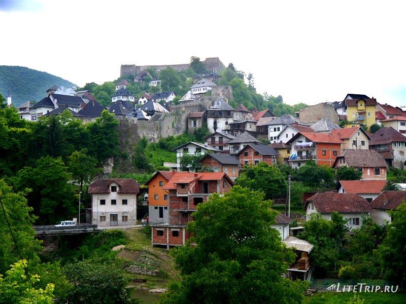 Босния и Герцеговина. Крепость на холме в Яйце.
