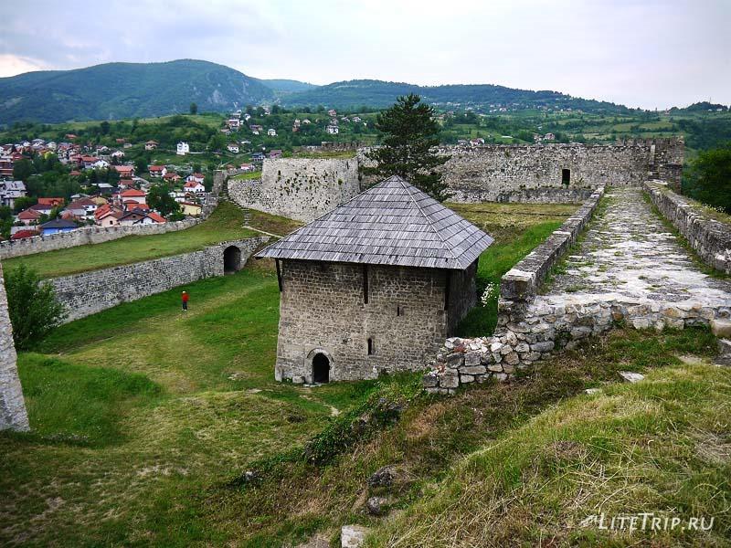 Босния и Герцеговина. Крепость внутри - город Яйце.
