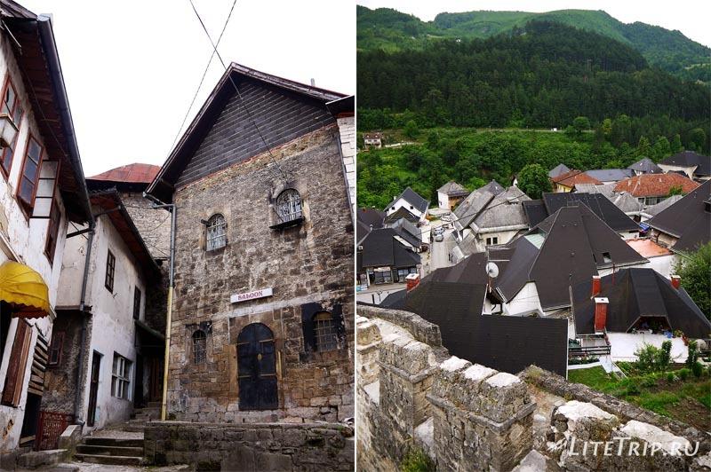 Босния и Герцеговина. По узким улицам города Яйце.