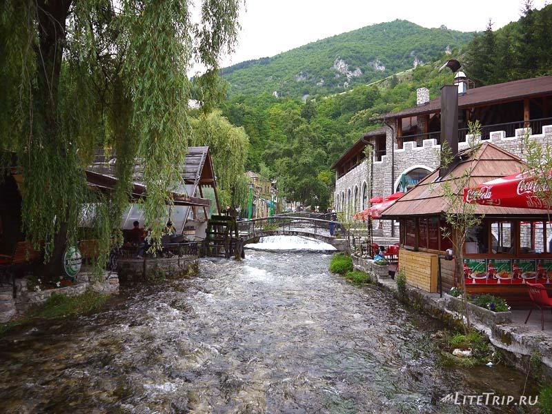Босния и Герцеговина. Река Лашва в Травнике.