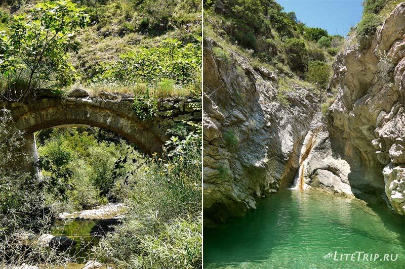 Черногория. Горный ручей в городе Бар.