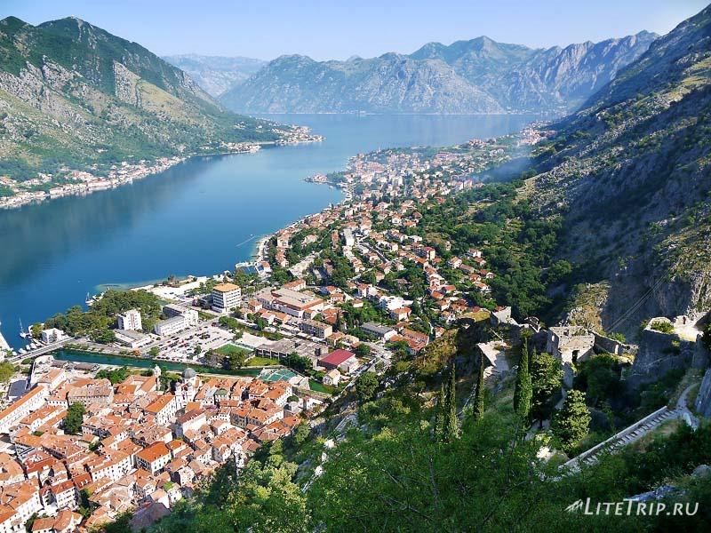Черногория. Крепость в Которе - вид сверху