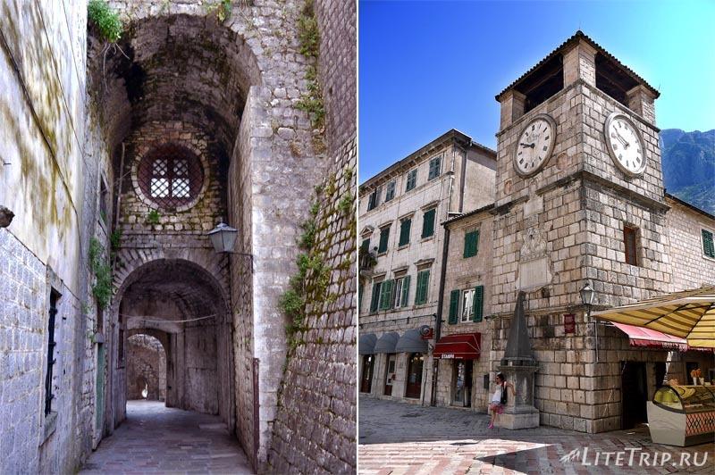 Черногория. Старый Котор - часы на башне.