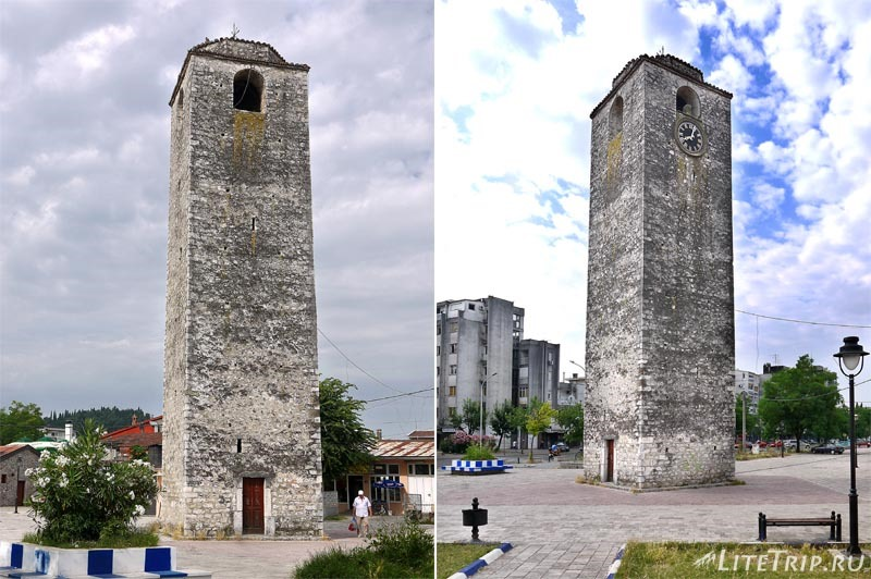 Черногория. Башня с часами в Подгорице.