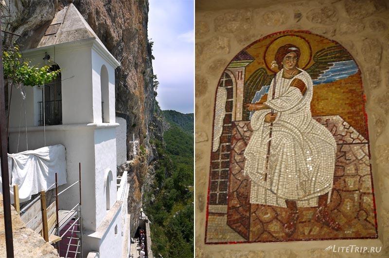 Черногория. Подъем на второй этаж острожского монастыря.