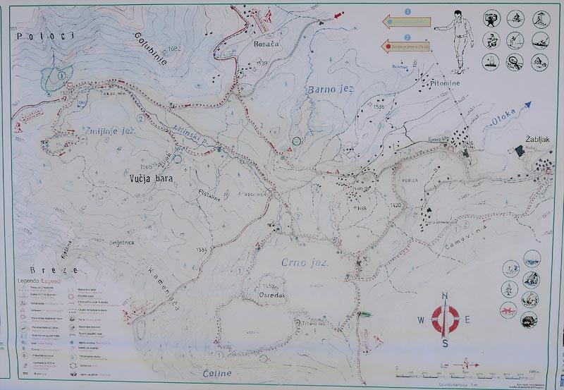 Черногория. Пешеходная карта по Дурмитору.