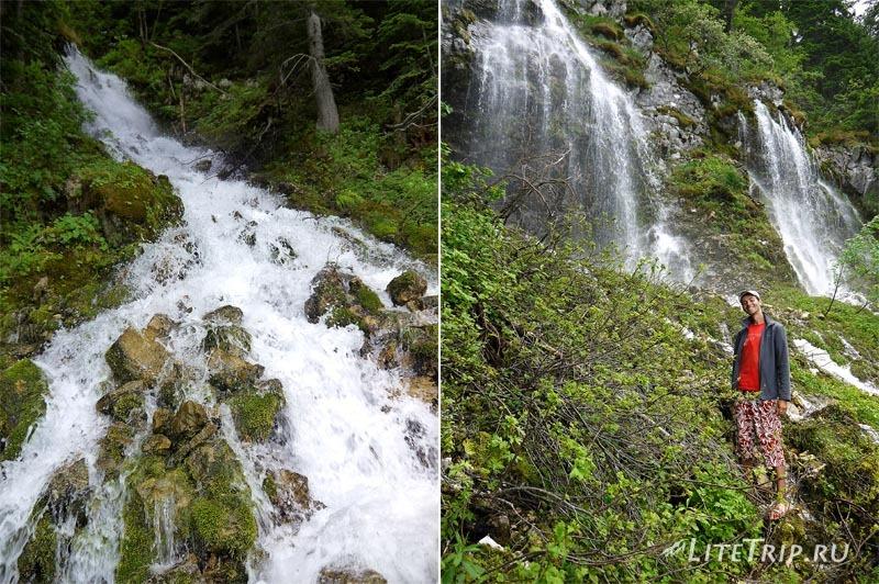 Черногория. Черное озеро - на другой стороне водопада.