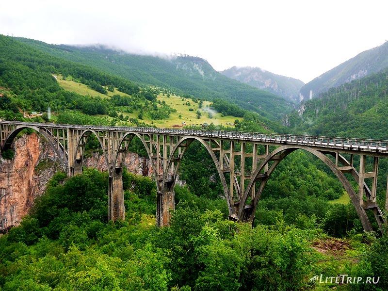 Черногория. Мост через каньон реки Тары.