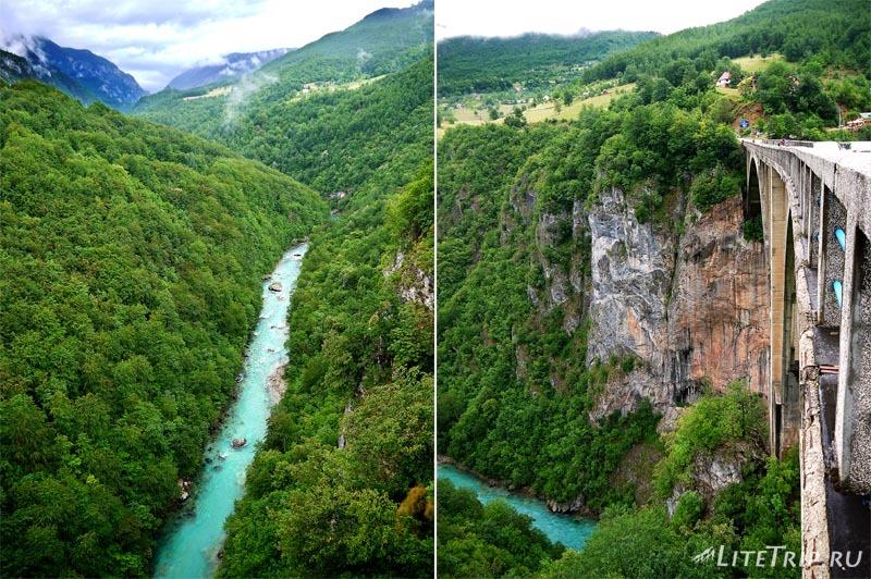 Черногория. Река Тара в каньоне.