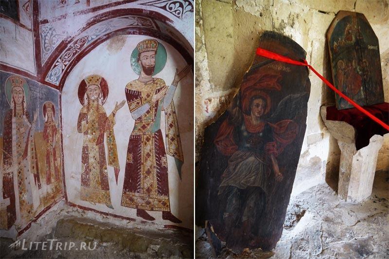 Грузия. Монастырь Гелати - старые фрески.