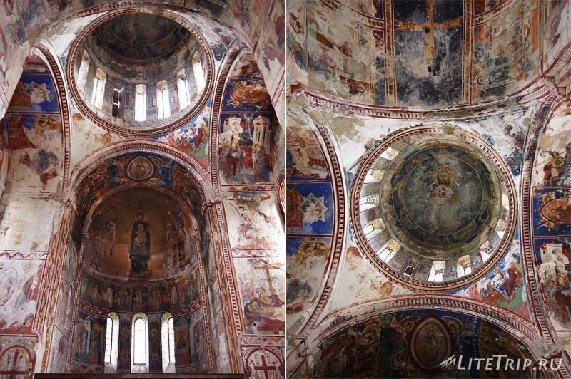 Грузия. Монастырь Гелати - фрески.