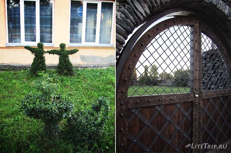 Грузия. Футбольное поле за воротами крепости в Кварели.