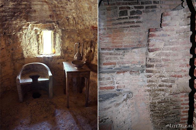 Грузия. Средневековый туалет в замке Греми.