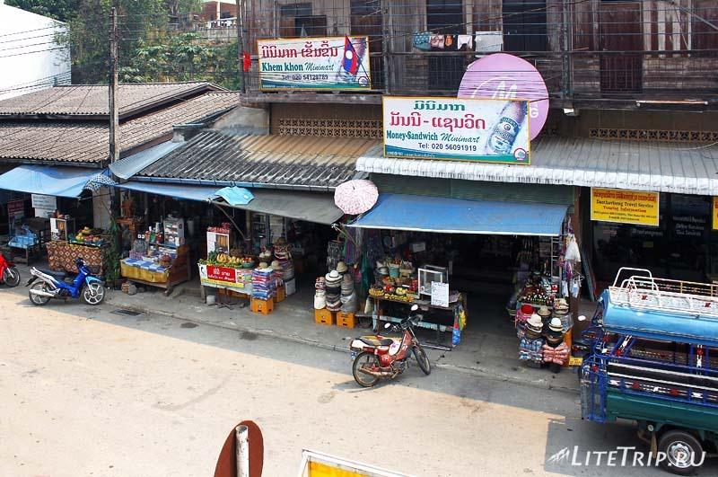 Город ХуайХай в Лаосе. Вид с балкона гестхауса Phonethip.
