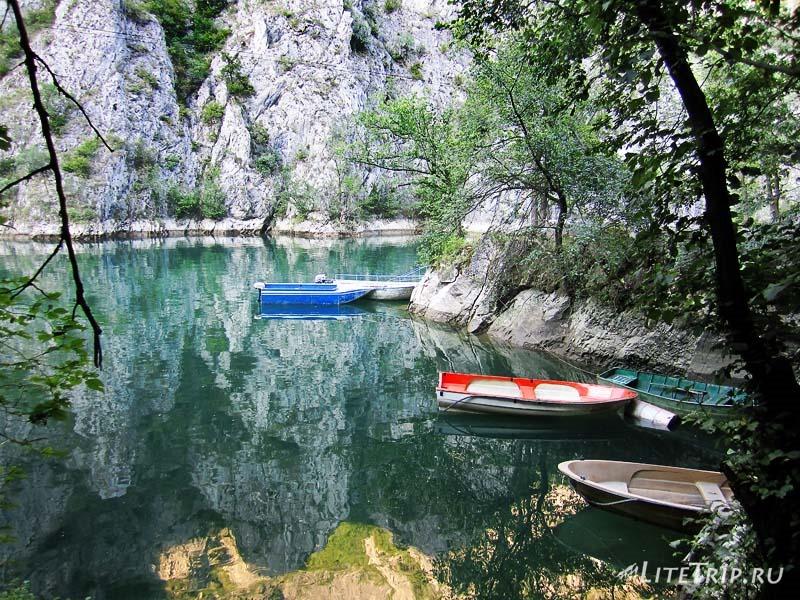 Македония. Каньон Матка - лодки