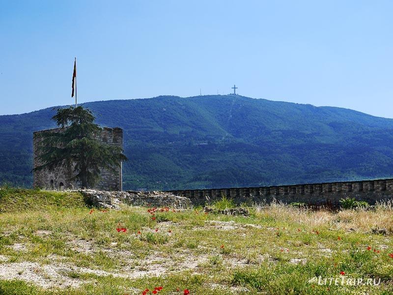 Македония. Закрытая крепость в Скопье. Крест