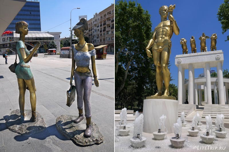 Македония. По улицам Скопье - скульптуры.