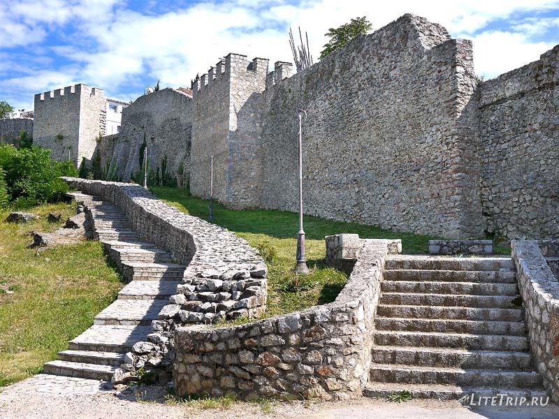 Македония. Крепость царя Самуила в Охриде.